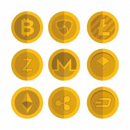 set virtual coins icons 24911 54637